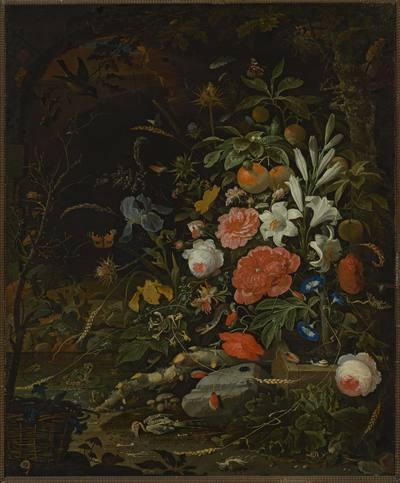 Kwiaty i drobne stworzonka - Vanitas