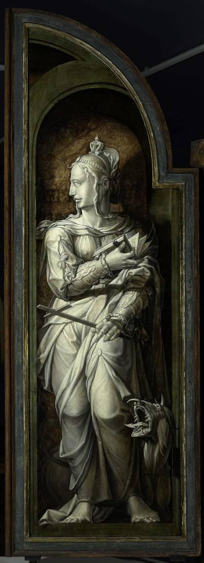 Tryptyk Ecce Homo, na skrzydłach portrety donatorów