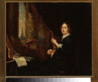 Portret mężczyzny z cytarą