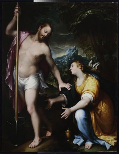 Noli me tangere - Zmartwychwstały Chrystus ukazujący się Marii Magdalenie (J 20, 14-17)