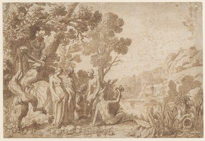 Bacchus and Ariadne on Naxos; Bacchus et Ariane sur l'ile de Naxos