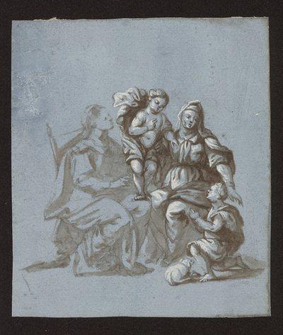Święta Anna Samotrzeć ze świętym Janem Chrzcicielem
