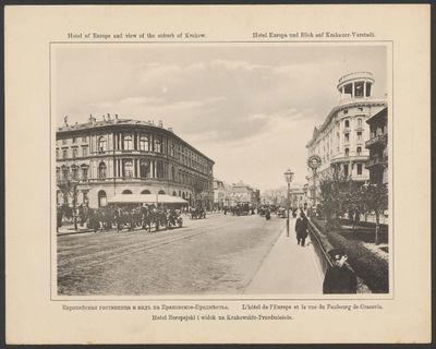 Hotel Europejski i widok na Krakowskie Przedmieście