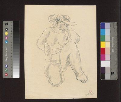 Portret siedzącego młodzieńca, ujętego na wprost