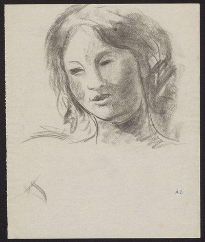 Szkic portretowy głowy młodej kobiety