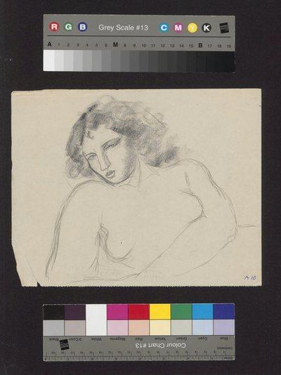 Szkic portretowy młodej kobiety