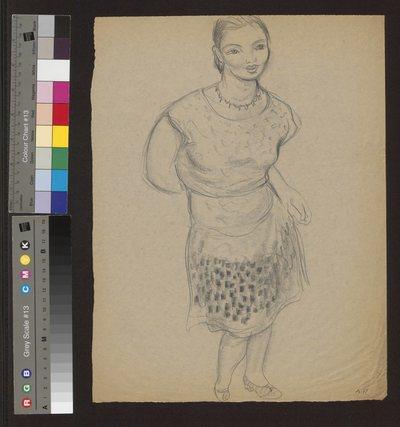 Portret kobiety w krótkiej sukience