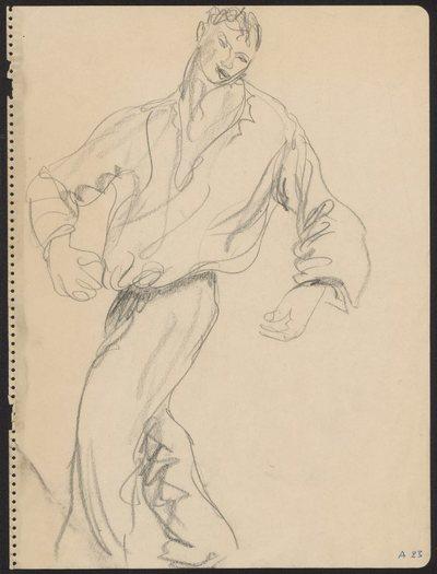 Szkic idącego mężczyzny