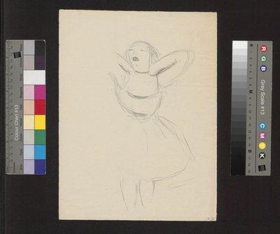 Szkic tancerki wg Edgara Degas'a