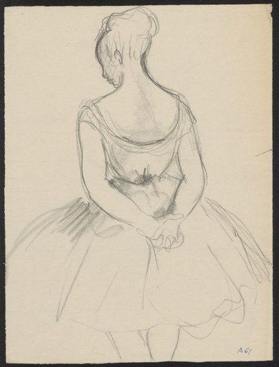 Szkic odwróconej tancerki wg Edgara Degas'a