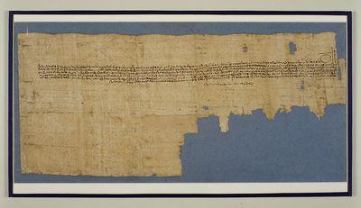 Papirus demotyczny - umowa dzierżawna