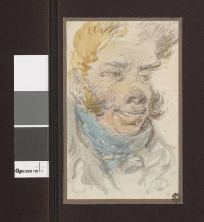 Portret mężczyzny z halsztukiem na szyi