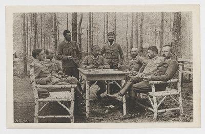Pułkownicy Leg.pol. w gościnie u pułkownika IV. pułku B. Roji.
