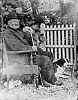 [Man with a dog]