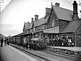 railway station, Machynlleth]