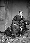 [Woman with a dog (Llanrwst?)]