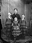 woman and three girls]