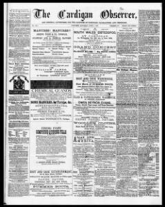 The Cardigan observer, and general advertiser for the counties of Cardigan, Carmarthen, and Pembroke