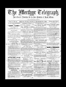 The Merthyr telegraph, and general advertiser for the iron districts of South Wales