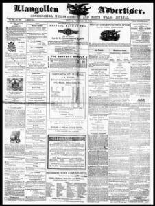 Llangollen advertiser, Denbighshire, Merionethshire, and North Wales journal