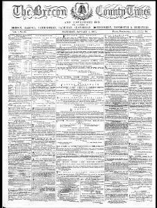 The Brecon county times, Neath gazette and general advertiser for the counties of Brecon, Carmarthen, Radnor, Monmouth, Glamorgan, Cardigan, Montgomery, Hereford
