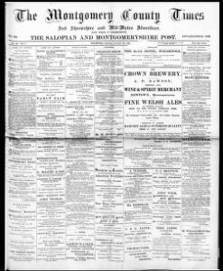 The Montgomery county times and Shropshire and Mid-Wales advertiser
