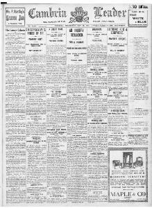 The Cambria daily leader