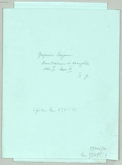 Homiliarium in evangelia libri II, Liber I, Hom. VII - BSB Clm 29400(11