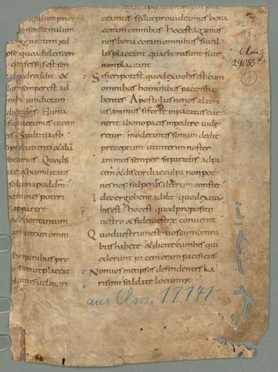 Collectiones in epistolas et evangelia - BSB Clm 29476(1