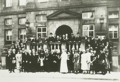Groepsfoto ter gelegenheid van het Beiaardierscongres.