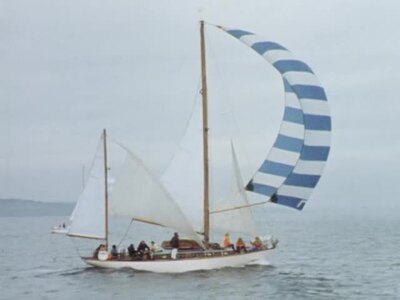 [FILM REPORT ON THE START OF THE FAIR ISLE SAILING RACE]