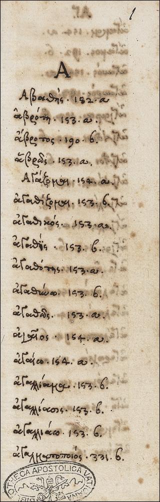Index verborum graecorum