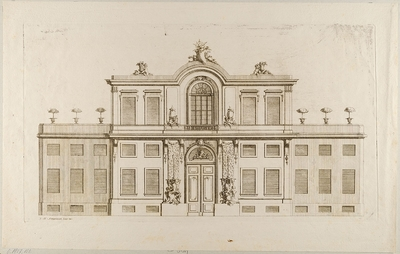 Wohnhaus, Blatt aus einer Folge von Fassaden von Wohn- und Gartenhäusern