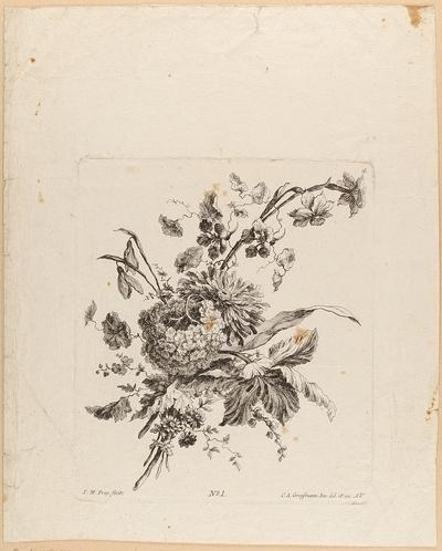 Blumenstrauß, Blatt 4 aus einer Folge von Blumensträußen