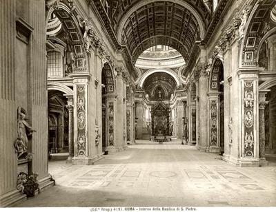 Roma - Interno della Basilica di S. Pietro