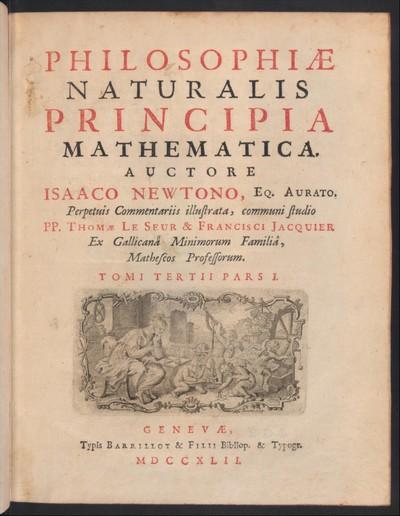 Philosophiae naturalis principia mathematica, 3,1