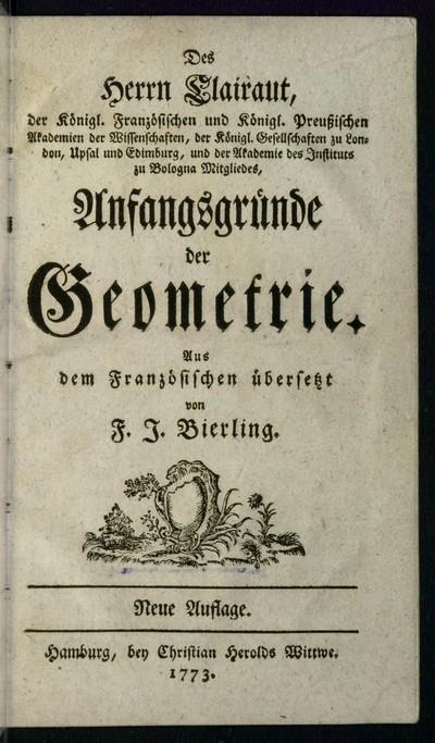 Anfangsgründe der Geometrie
