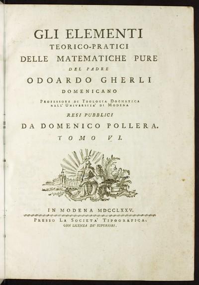 Gli elementi teorico - pratici delle matematiche pure; Bd. 6: Il calcolo integrale : parte prima