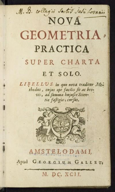 Nova geometria practica, super charta et solo