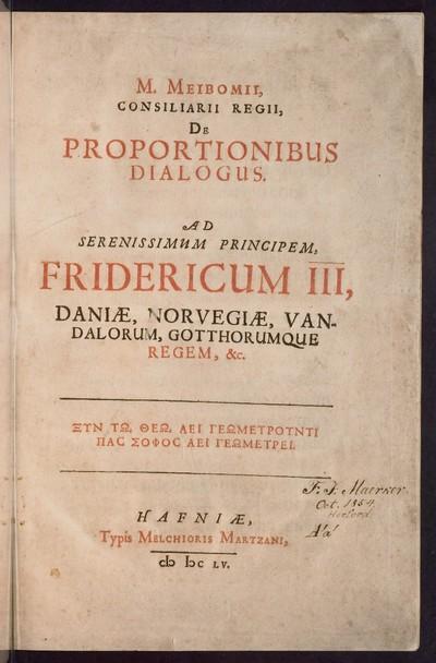 De proportionibus dialogus