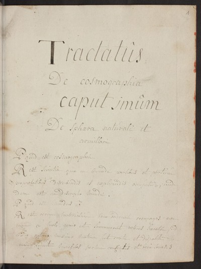 Tractatus de cosmographia
