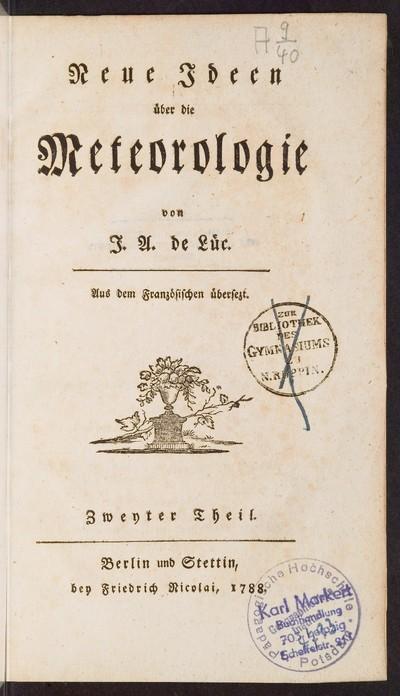 Neue Ideen über die Meteorologie; Bd. 2