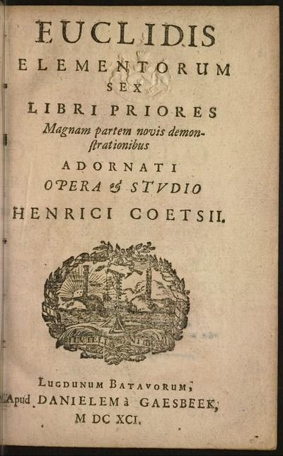 Euclidis elementorum sex libri priores : magnam partem novis demonstrationibus