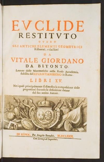 Restitvto overo gli antichi elementi geometrici, Libri XV