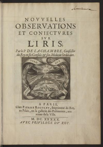 Novvelles observations et conjectvres svr l' Iris