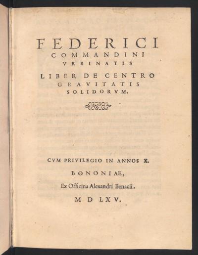 Liber de centro gravitatis solidorum