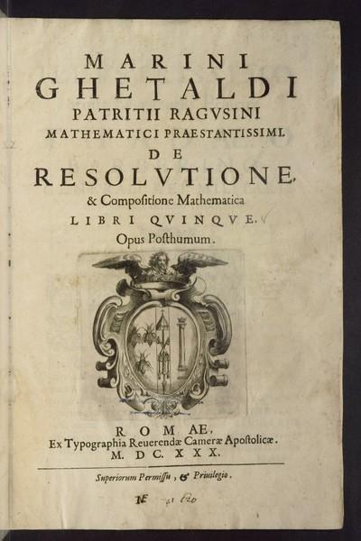 De resolvtione and compositione mathematica libri qvinqve : opus posthumum