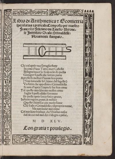 Libro di arithmetica & geometria speculatiua & practicale