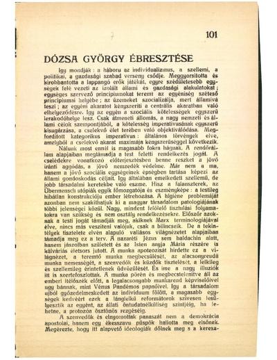 Dózsa György ébresztése