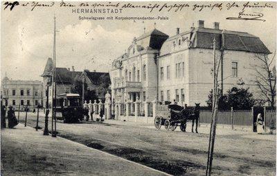 Hermannstadt - Schewisgasse mit Korpskommandanten - Palais